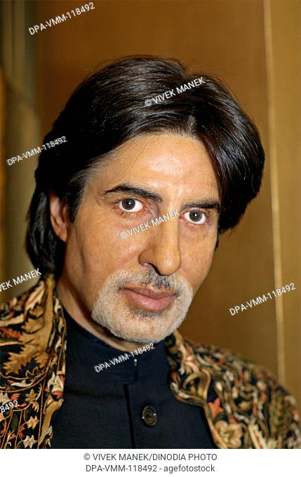 Model actor Amitabh Bachchan wax statue at Madame Tussauds Wax Museum ; London ; U.K. United Kingdom England