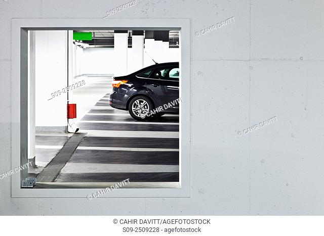 Car park and vehicle in the Setanta Car Park, Nassau Street, Dublin 2 Ireland