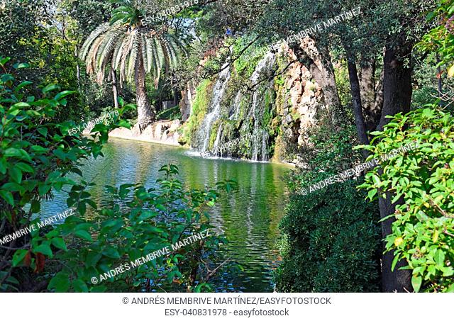 . Torre Blanca Park in Sant Just Barcelona
