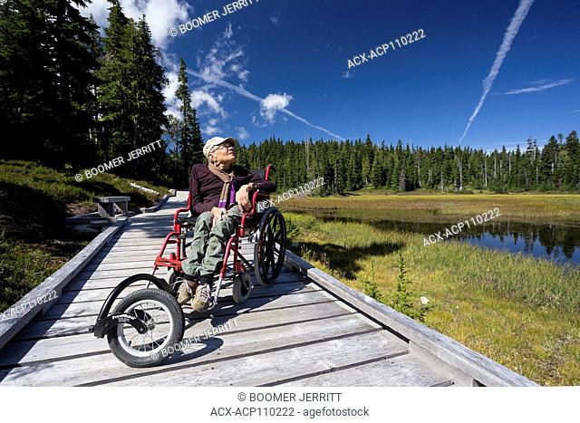 Boardwalks in Paradise Meadows provide for accessibility for handicapped folks wanting to also enjoy the great outdoors, Mt