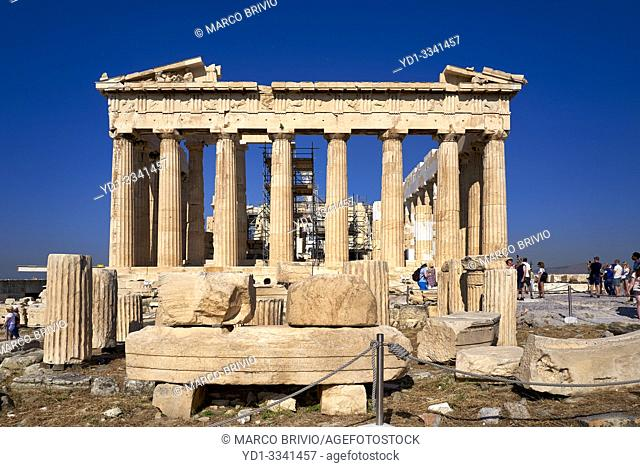 Athens Greece. The Parthenon at the Acropolis