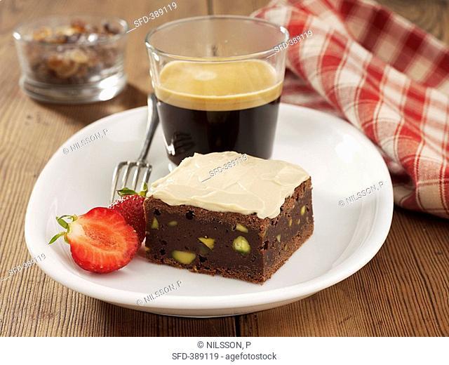 Coffee and chocolate slice