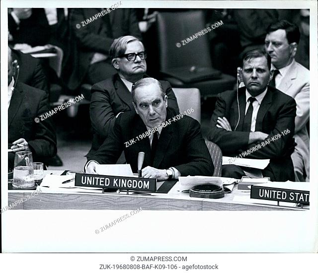 Aug. 08, 1968 - Security Council Begins Debate On Situation In Czechoslovakia: The Security Council tonight began debate, at the request of six Council members