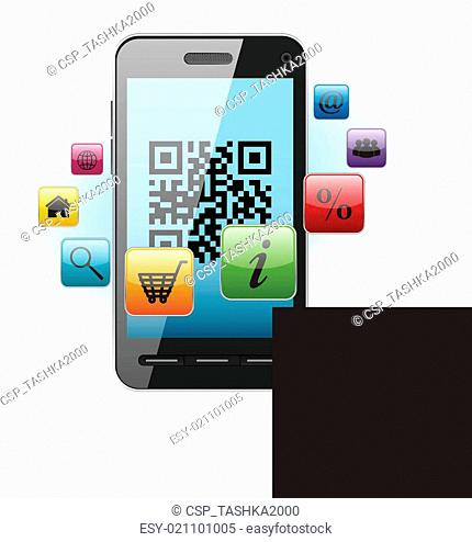 QR-code on mobile phone