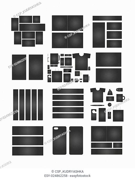 Corporate flat identity mock-up template for your design