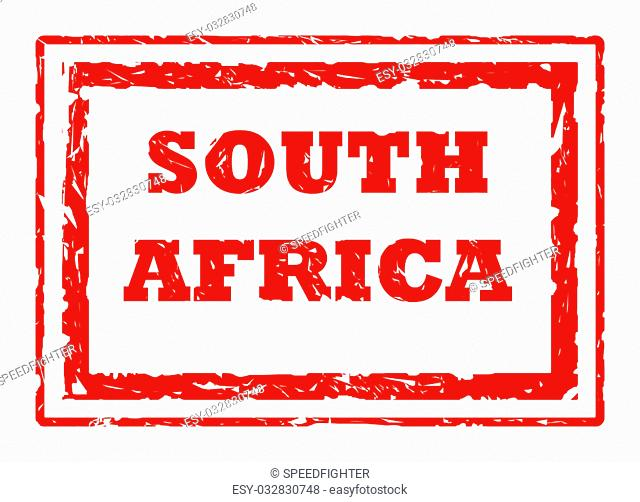 South Africa stamp isolated on white background