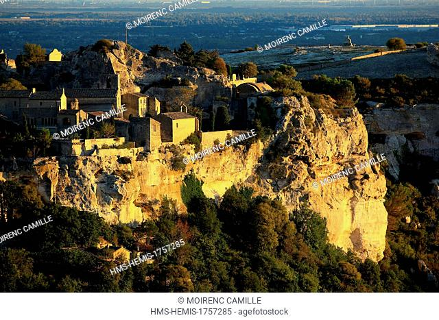 France, Bouches du Rhone, Regional Natural Park of the Alpilles, Les Baux de Provence, labelled Les Plus Beaux Villages de France (The Most Beautiful Villages...