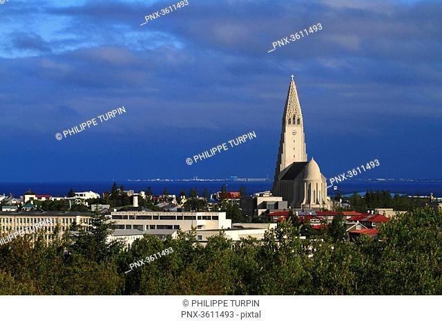 Iceland, Reykjavik. Hallgrimskirkja church
