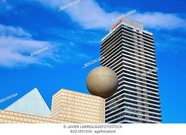 Mapfre tower, Puerto Olimpico, Olympic Harbour, Barcelona. Catalonia, Spain