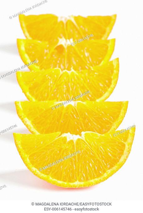 background with orange parts isolated