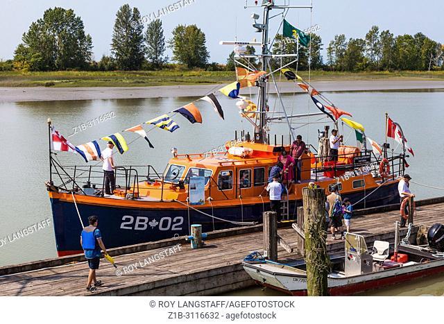 Steveston Lifeboat 2B-02 on display at the 2018 Steveston Maritime Festival