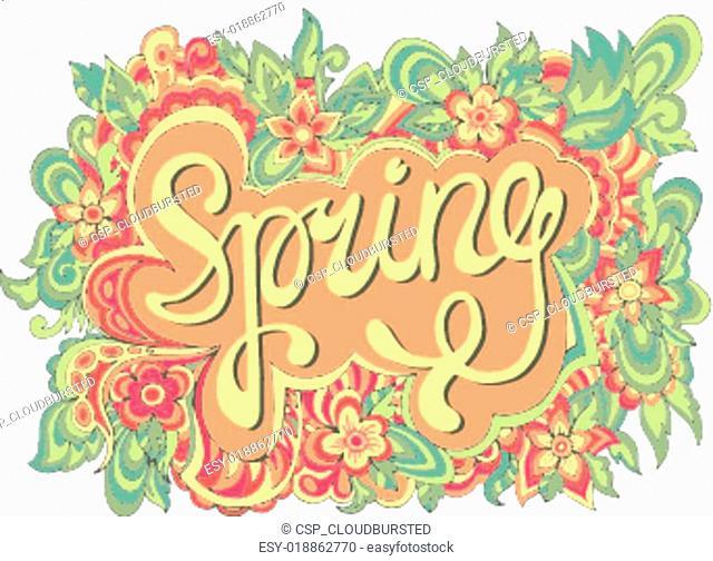 Spring hand lettering