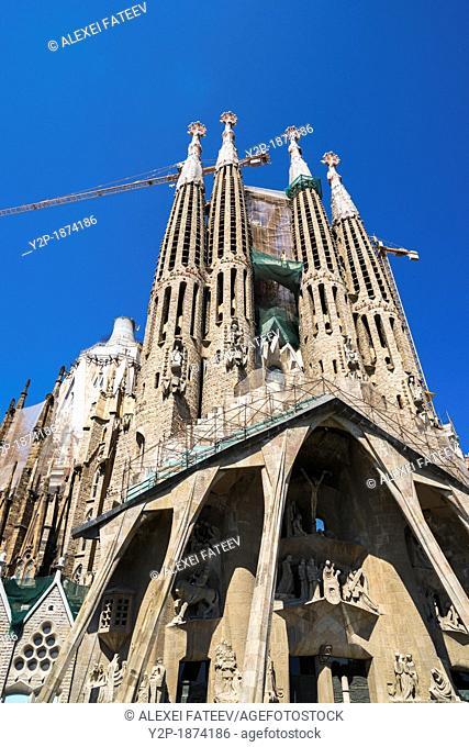Sagrada Família by Antoni Gaudí in Barcelona
