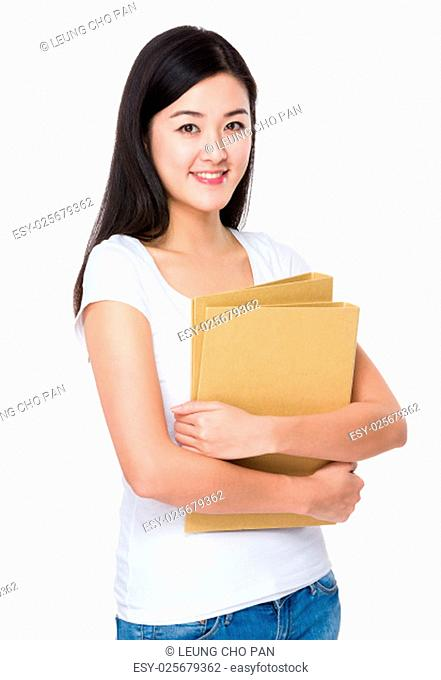 Woman hold with file document