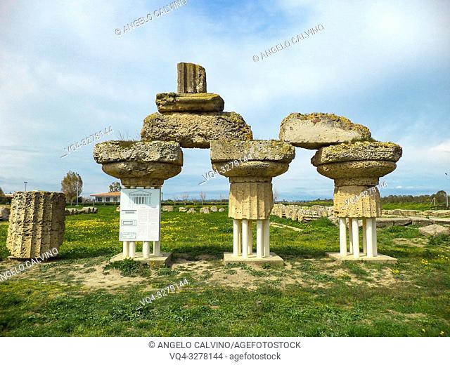 Metaponto, Doric Temple of Hera, Tavole Palatine, Basilicata, Italy
