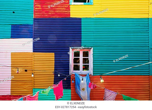One of the typical walls in La Boca, Buenos Aires