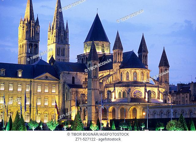 L'Abbaye-aux-Hommes. Saint Etienne. Caen. Normandy. France