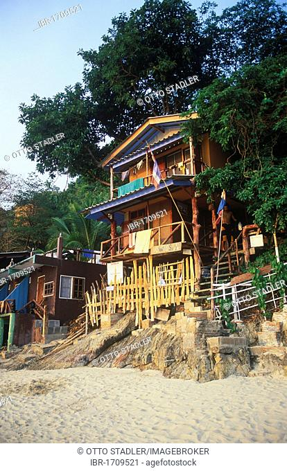 Traveller Hotel on White Sand Beach, Hat Sai Kao, Koh Chang Island, Trat, Thailand, Southeast Asia