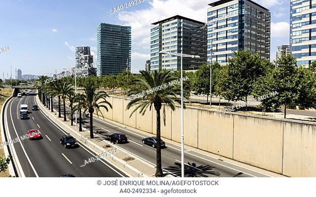 Diagonal Mar i el Front Marítim del Poblenou neighborhood. Barcelona. Catalonia. Spain
