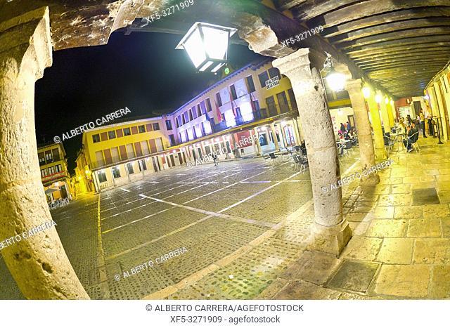 Main Square Porch, Old Town, Tordesillas, Valladolid, Castilla y León, Spain, Europe