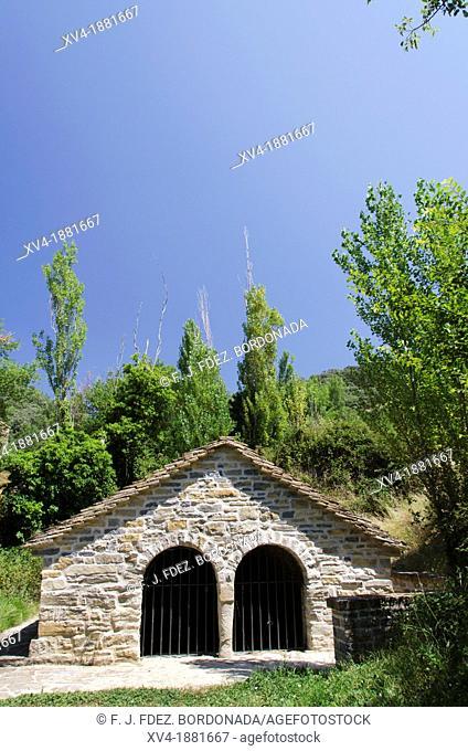 Turrillas mediaeval fountain Izagaondoa valley, Navarre, Spain