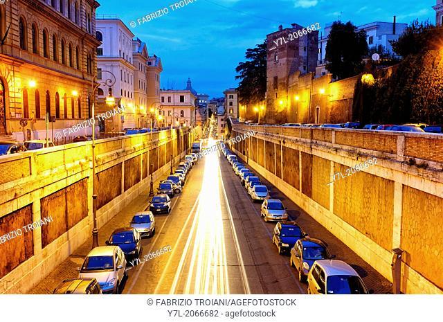 Via degli Annibaldi, Rome Italy