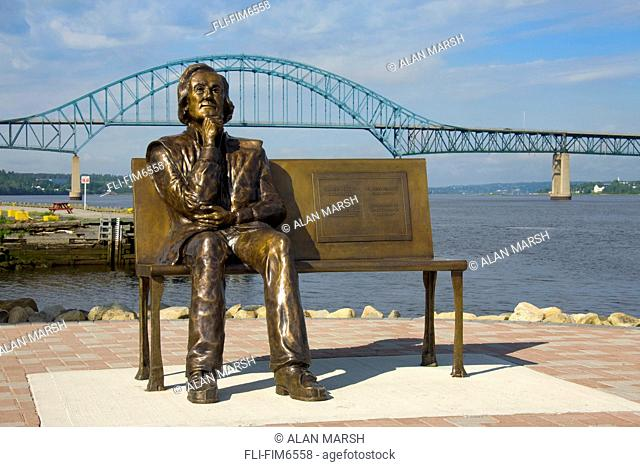 Statue of Francis Peabody the Founder of Chatham, Miramichi, New Brunswick