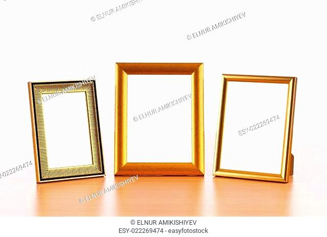 Photo frames on the table