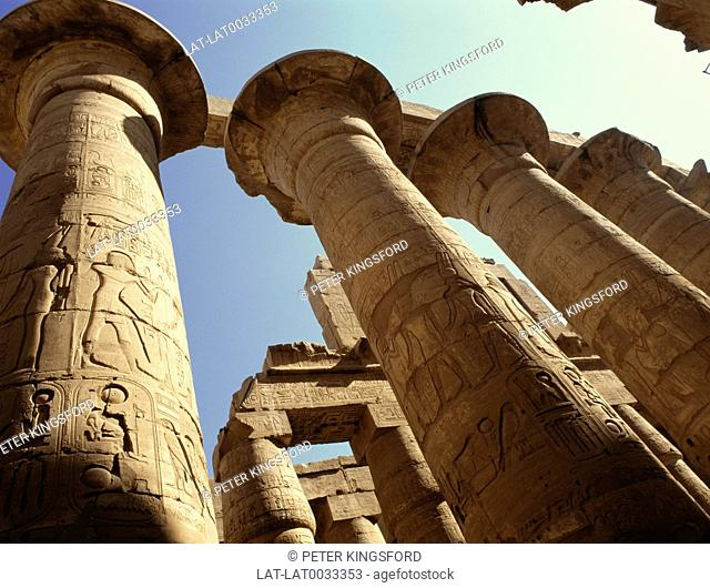 The Karnak temple complex is a huge open air museum site,of archaeological discoveries,temples and halls,constructured in the Middle Kingdom and Ptolemaic times