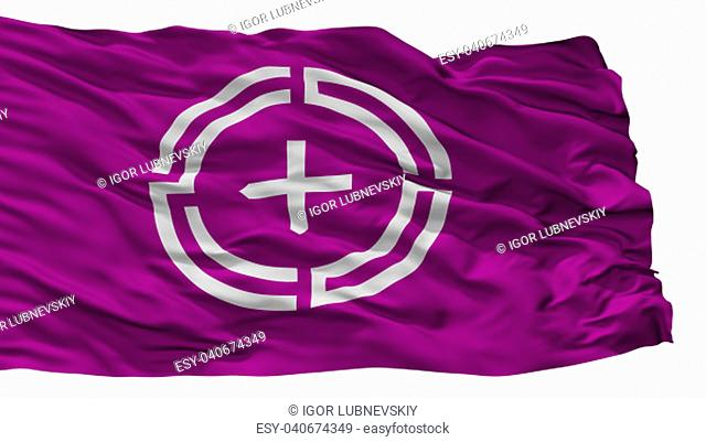 Numata City Flag, Country Japan, Gunma Prefecture, Isolated On White Background, 3D Rendering