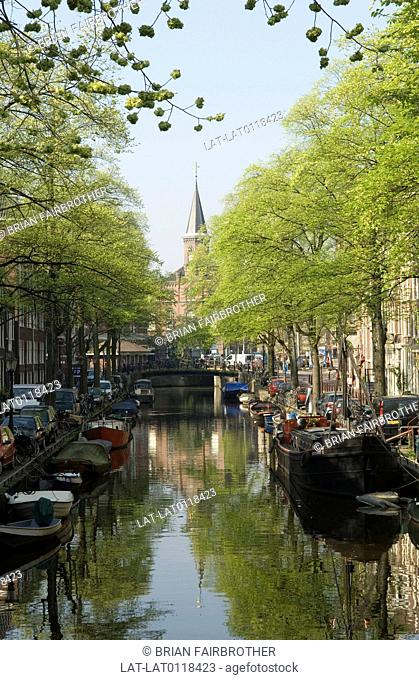 Amsterdam is the capital city of the Netherlands. There are over 100 kilometres of canal within the city