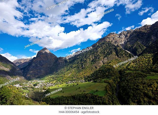 Switzerland , Ticino Tessin , Val du Blenio Olivone