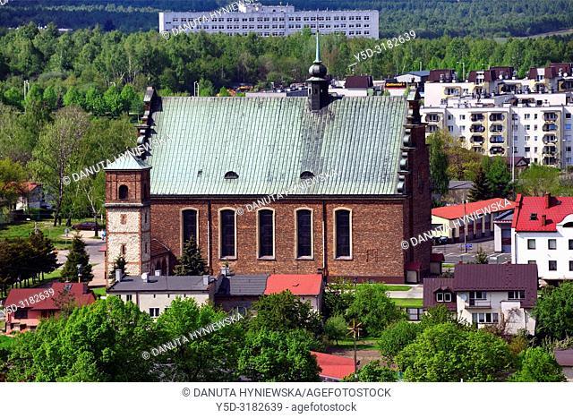 Feast of the Cross Church seen from Jasna Gora, Czestochowa, Silesian Voivodeship, southern Poland, Poland, Europe