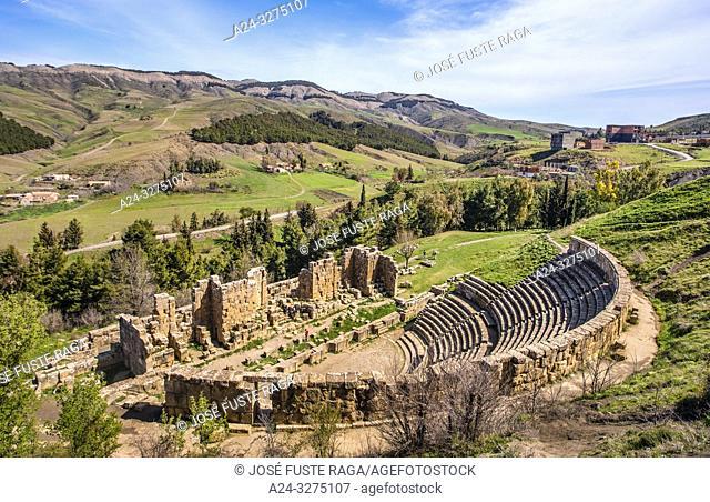 Algeria, Djemila City, Roman ruins of Djemila City, UNESCO, W. H. , Roman Theater