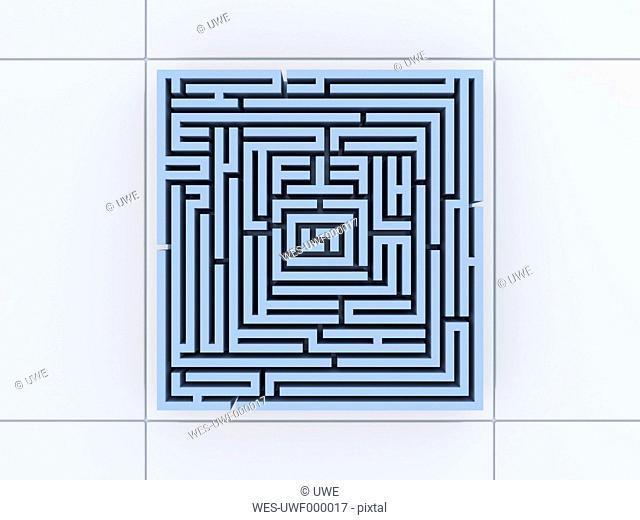 Labyrinth, 3D-Illustration