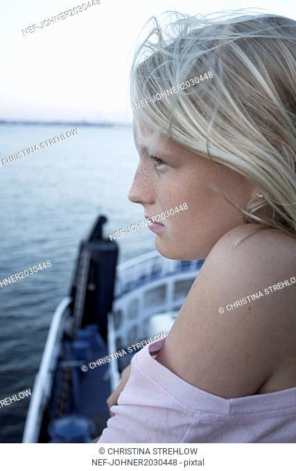 Girl looking at sea