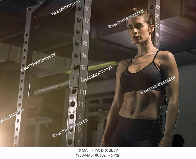 Fitness, woman in gym