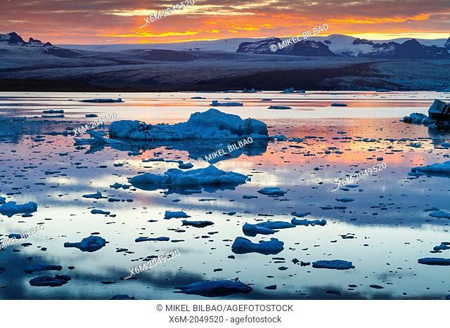 Jokulsarlon glacial lake. Iceland, Europe