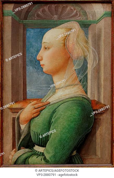 Fra Filippo Lippi - Profile Portrait of a Young Woman - 1445 - XIX th Century - Italian School - Gemäldegalerie - Berlin
