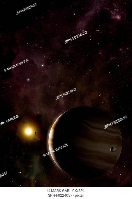 Wasp 39b hot Saturn exoplanet, illustration