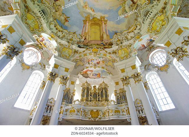 organ of world famous Wieskirche in Bavaria