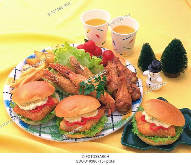 Sandwich, High Angle View