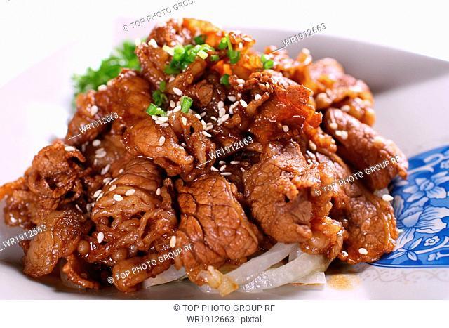 fried beef fat