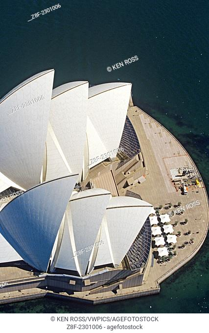Aerial view of Opera House, Sydney, Australia