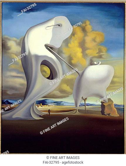 The Architectural Angelus of Millet by Dalí, Salvador (1904-1989)/Oil on canvas/Surrealism/1933/Spain/Museo Nacional Centro de Arte Reina Sofía
