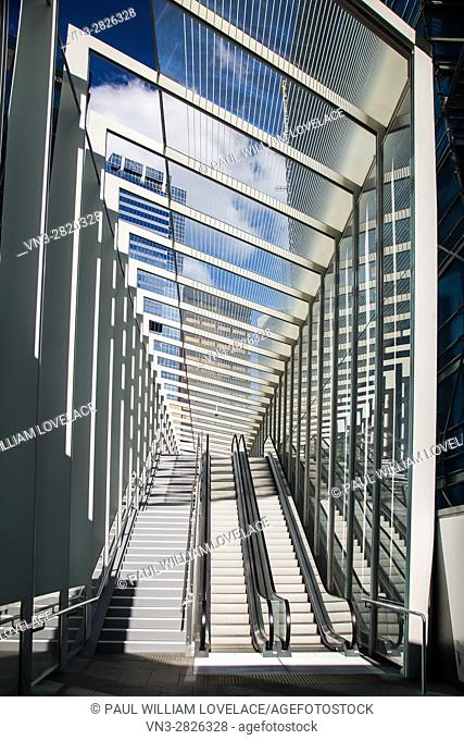 Barangaroo Pedestrian Bridge known as The Wynard Walk, Barangaroo, Sydney, Australia