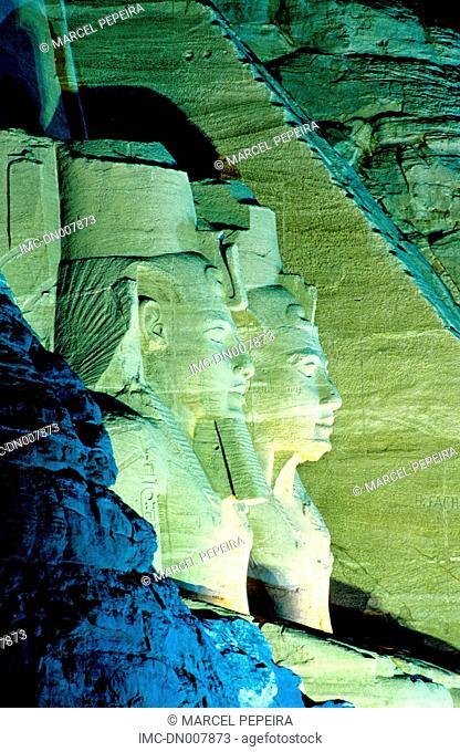 Egypt, Abu Simbel, temple of Ramses II