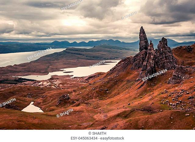 Breathtaking view from Old Man of Storr, Scotland