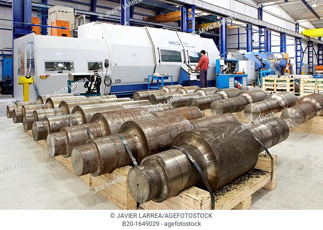 Laminating rollers, Machining center, Metallurgical Industry, Gipuzkoa, Basque country, Spain
