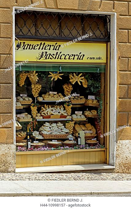 Shop-window, Panetteria, Paticceria, baker, cakes and pastries, typical, specialities
